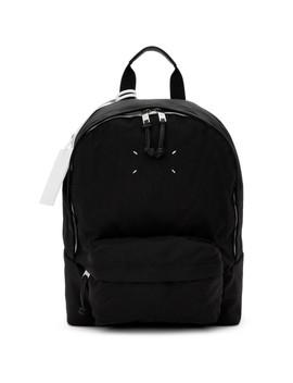 black-nylon-canvas-backpack by maison-margiela