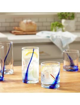 blue-ribbon-impressions-16-piece-glass-drinkware-set by libbey®-collection