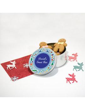 personalised-christmas-woodland-treat-box-storage-tin! by etsy