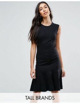 yas-tall-cirano-panelled-drop-hem-dress by yas-tall