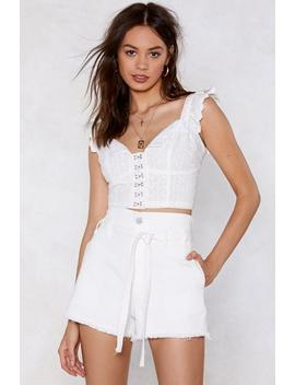 shake-a-leg-high-waisted-shorts by nasty-gal