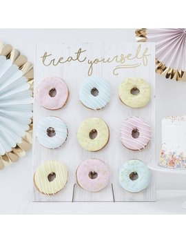 treat-yourself-pastel-donut-wall-party-decoration__doughnut-decorations_food-displays_party-buffet_birthday-cake_party-ideas_party-favours by etsy