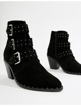asos-design-region-suede-studded-ankle-boots by asos-design