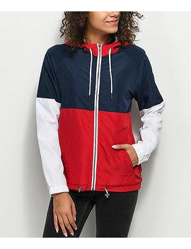 zine-reajan-red,-white-&-blue-lined-windbreaker-jacket by empyre