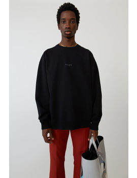 Garment Dyed Sweatshirt Black by Acne Studios