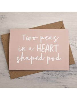 valentines-card---two-peas-card---love,-romance,-anniversary,-valentines-card,-greetings-card,-card-for-partner,-boyfriend,-girlfriend,heart by etsy