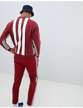 adidas-–-originals-authentic-–-rot-gestreiftes-sweatshirt,-dh3836 by adidas-originals