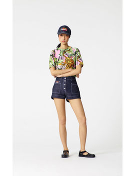 denim-shorts by kenzo