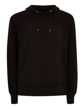 black-overhead-hoodie by topman