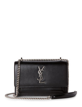 black-sunset-leather-chain-wallet by saint-laurent