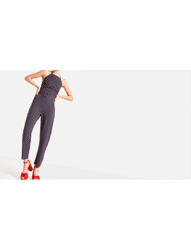 navy-lorna-spot-peg-leg-trouser by nobodys-child