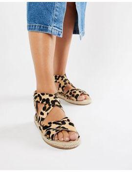 asos-design-jose-leather-espadrille-sandals by asos-design