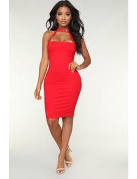 impatient-dress---red by fashion-nova