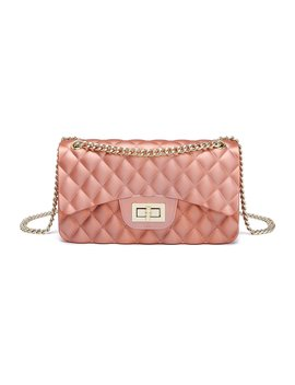 women-shoulder-bag-jelly-clutch-handbag-quilted-crossbody-bag-with-chain by jollque