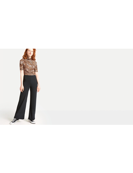black-ribbed-straight-leg-turnup-trouser by nobodys-child