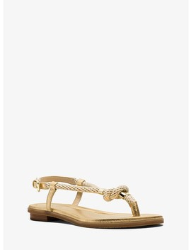 holly-rope-trim-metallic-leather-sandal by michael-kors