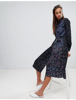 french-connection-midi-shirt-dress-in-obine-floral by french-connection