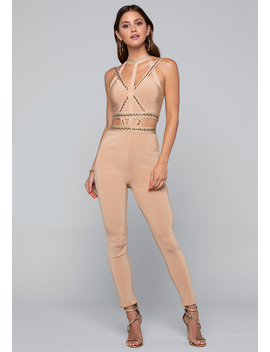 Studded Bandage Catsuit by Bebe