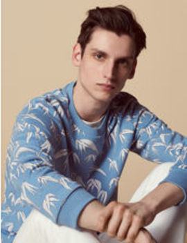 palm-tree-print-sweatshirt by sandro-eshop