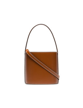 brown-bisset-leather-bucket-bag by staud