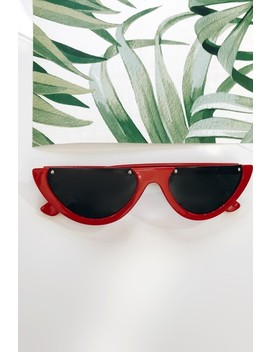 kylie-red-half-frame-sunglasses by misspap