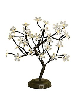 lightshare-18-inch-crystal-flower-led-bonsai-tree,-warm-white,-36-led-lights,-clear-flower,-battery-powered-or-dc-adapter(included),-built-in-timer by lightshare