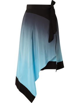 asymmetric-ombré-silk-crepe-de-chine-skirt by mugler