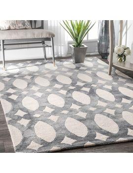 nuloom-handmade-dip-dyed-geometric-wool-light-grey-rug by nuloom