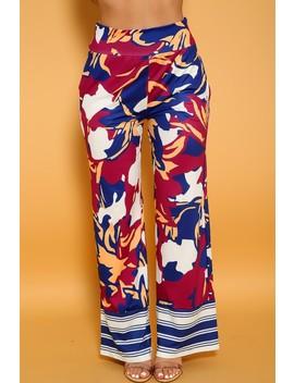 sexy-navy-magenta-printed-flared-casual-palazzo-pants by ami-clubwear