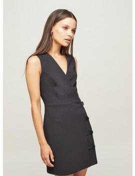 petite-black-button-wrap-dress by miss-selfridge