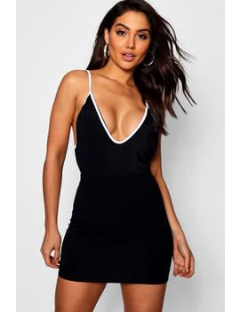 super-high-cut-contrast-piping-body by boohoo
