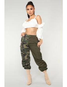 split-personality-cargo-pants---olive by fashion-nova
