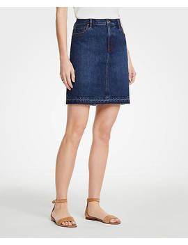 Released Hem Denim Skirt by Ann Taylor