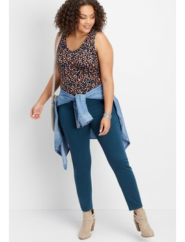 plus-size-denimflex-leafy-teal-jegging by maurices