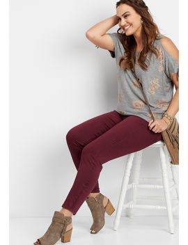 Plus Size Denim Flex™ Plum Wine Jegging by Maurices