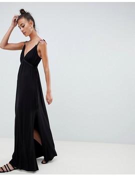 asos-design-tall-rose-applique-strap-maxi-dress by asos-design