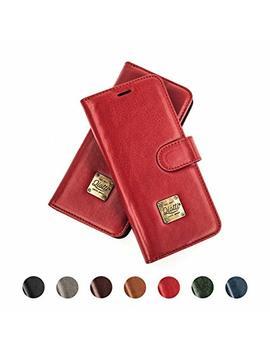 qiotti-htc-u11-handyhülle-mit-kartenfach-&-magnetverschluss-i-rfid-schutz-i-standfunktion-i-flip-case-tasche-–-(rot) by amazon