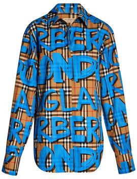 graffiti-print-check-shirt by burberry