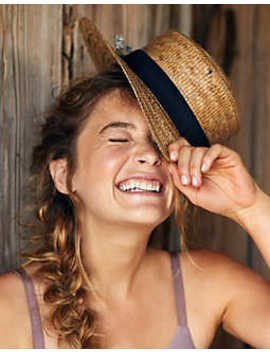aerie-straw-boater-hat by american-eagle-outfitters
