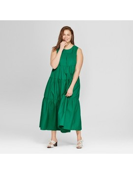 womens-plus-size-tiered-maxi-dress---who-what-wear by who-what-wear