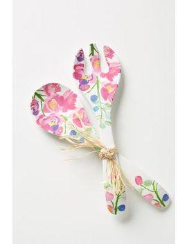 paint-+-petals-melamine-serving-set by anthropologie