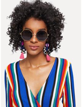 metal-frame-polygon-sunglasses by shein