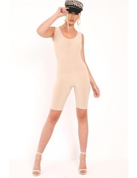 nude-bodycon-scoop-neck-unitard---idalie by rebellious-fashion