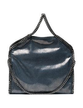 blue-metallic-falabella-shaggy-tote-bag by stella-mccartney