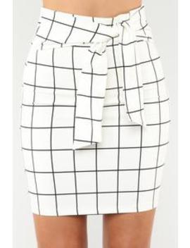no-loose-ends-tie-waist-skirt---white by fashion-nova