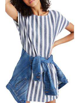 stripe-play-button-back-dress by madewell