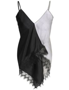 asymmetric-lace-trimmed-two-tone-georgette-and-silk-satin-top by vionnet