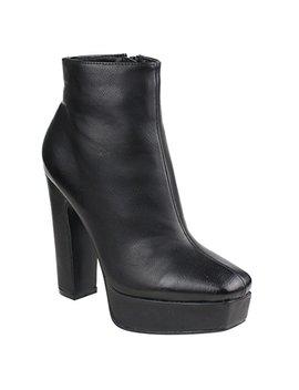 beston-ei45-womens-zipper-platform-chunky-heel-ankle-booties-half-size-small by beston