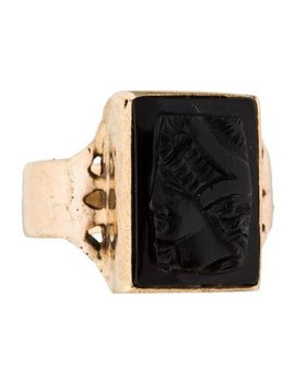 14k-onyx-cameo-ring by ring