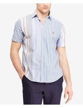 mens-classic-fit-striped-oxford-shirt by polo-ralph-lauren